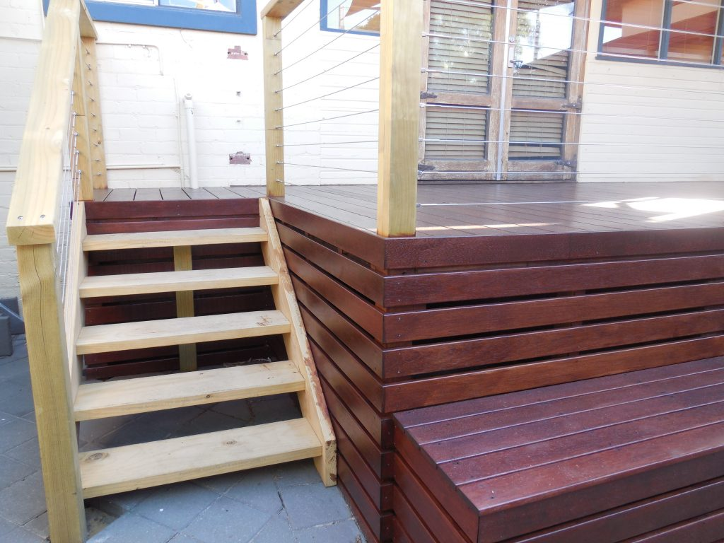 Timber decking stairs Perth