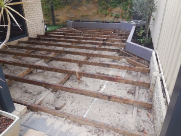 Before new composite decking in Maylands