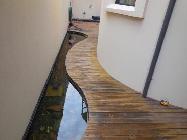 BEFORE new Composite decking in Scarborough